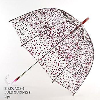 フルトン x ルルギネス 傘 Lulu Guinness x FULTON コラボ バードケージ リップス 長傘 fultonl719lips