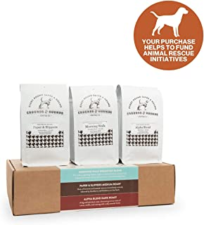 Grounds & Hounds Three Blend Starter Kit –100% Fair Trade Organic Ground Coffee Variety Pack - Includes Three 6 oz. bags of our Most Popular Ground Coffee Blends