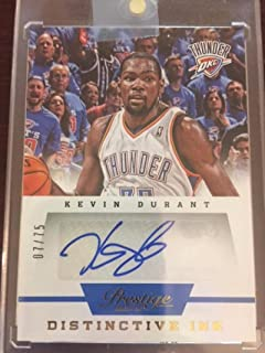 Basketball NBA 2013-14 Panini Prestige Distinctive Ink Signatures #15 Kevin Durant MINT Auto 07/75 Thunder