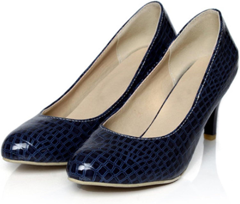 Knurling PU Low-cut Thin shoes Plus Size bluee 39
