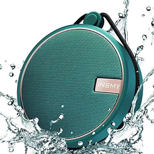 INSMY Portable IPX7 Waterproof Bluetooth Speaker Wireless Outdoor Speaker Shower Speaker with product image