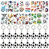 Fußball Schlüsselanhänger & Fußball-Tattoos für Partyartikel, 32er-Pack Inklusive...