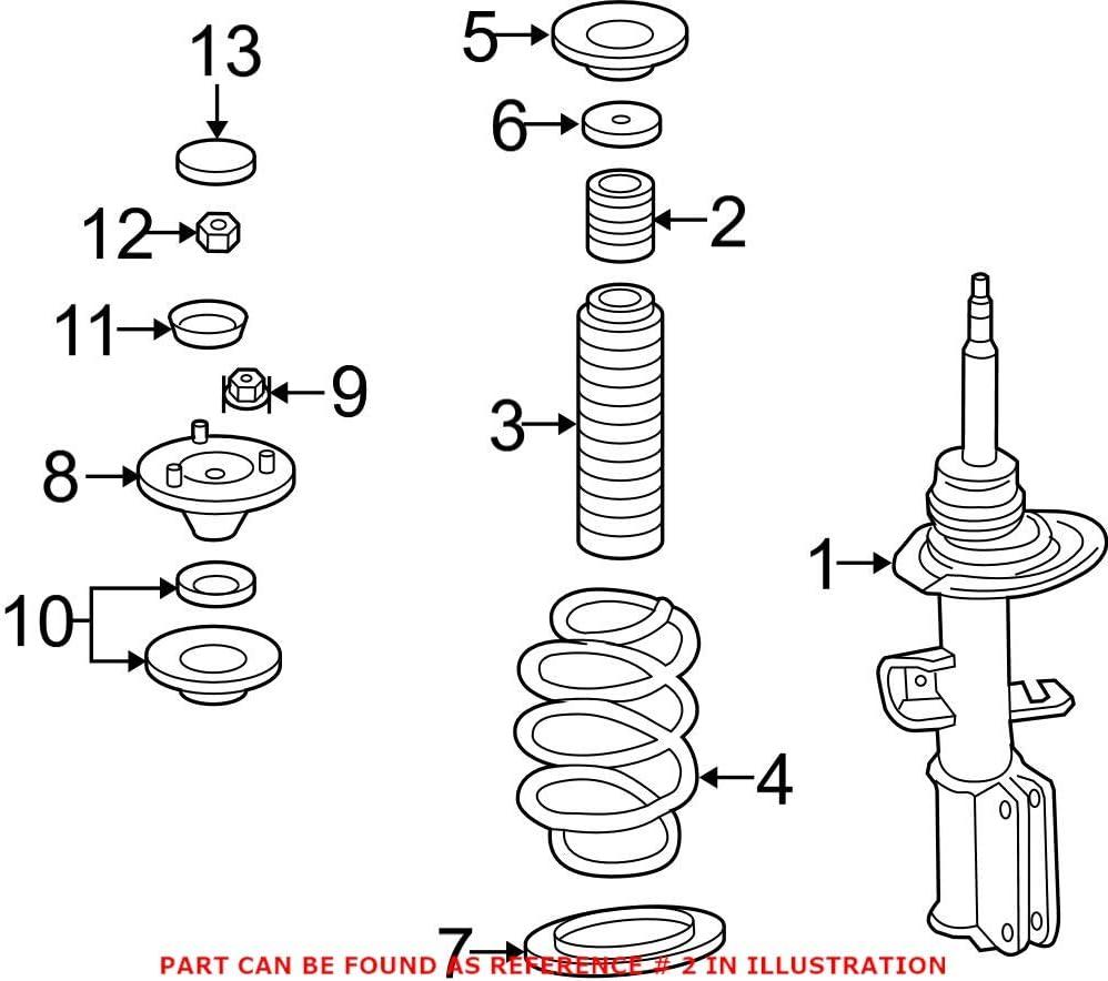 Genuine OEM Front Suspension Strut Bumper Kansas City Mall For X5 E83 BMW Max 90% OFF E53 X3