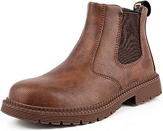 Bestgift Chaussures de sécurité pour homme avec coque en acier - Imperméables - Chaussures industrielles