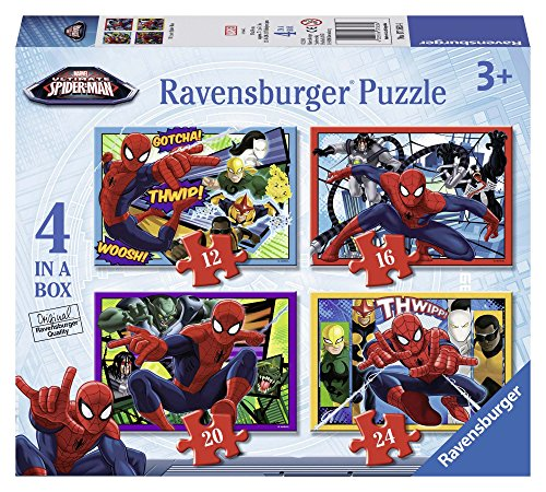 Ravensburger Ultimate Spider-man 4 In A Box Jigsaw puzzels