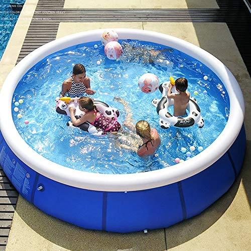 xy Piscinas inflables, 244 * 66cm 8 pies Familia Piscina Inflable, Piscina de Verano para niños al Aire Libre, Agua de Verano Backyard Pool Supply Piscina Familiar (Color : 366x76cm)