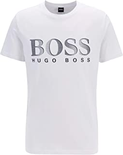BOSS Womens T-Shirt RN Cotton Relaxed-fit T-Shirt with UPF 50+ Finishing