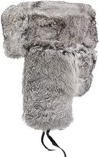 IFSUN Mens Winter Real Rabbit Fur Aviator Hat Russian Ushanka Hats