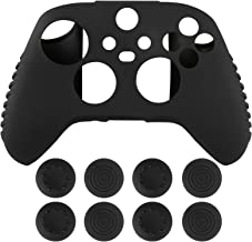 Geekria Silicone Cover Skin Case for Xböx Series X/S Controller, with Thumb Grip Caps (Black)
