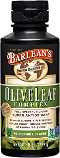 Barlean's Organic Olive Leaf Complex, Peppermint Flavor, 8 Ounce