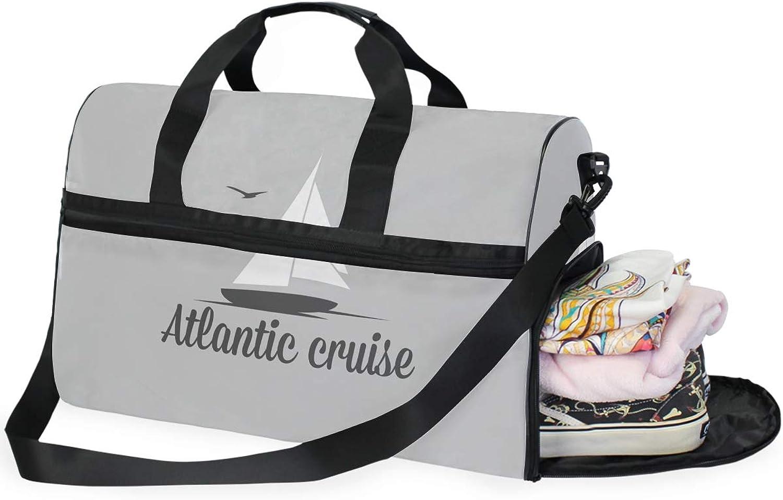 FAJRO Duffle Bag for Women Men Atlantic Cruise Travel Duffel Bag Large Size WaterProof Tear Resistant