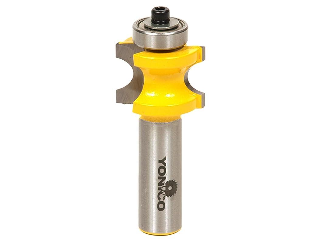容量間欠天のYonico 13114 丸角ルータービット 玉縁 半径4.76mm(3/16インチ) 直径9.52mm(1/2インチ) 12.7mm(1/2インチ)胴部