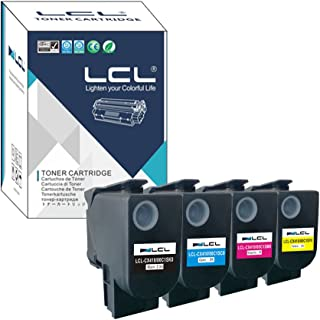 LCL Compatible Toner Cartridge Replacement for Lexmark 80C1SK0 80C10K0 801SK 801K 80C1SC0 80C10C0 801SC 801C 80C1SM0 80C10M0 801SM 801M 80C1SY0 80C10Y0 801SY 801Y CX310 CX310n (4-Pack K C M Y)