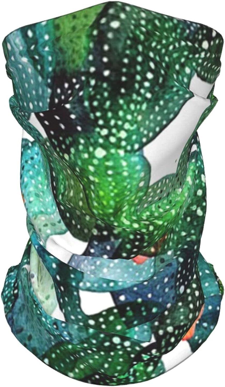 Cactus Cacti Flower Neck Gaiter Multipurpose Headwear Ice Silk Mask Scarf Summer Cool Breathable Outdoor Sport 2 Pcs