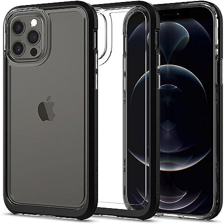 Spigen iPhone12 ケース iPhone12Pro ケース バンパーケース 背面 クリア TPUソフトケース PCハード 二重構造 米軍MIL規格 衝撃吸収 ワイヤレス充電 ネオ・ハイブリッド クリスタル ACS01706 (ブラック)