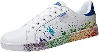 Sunhusing Women's Color Graffiti White Shoes Sports Shoes Running Shoes Men Women Casual Shoes Lovers Shoes