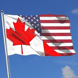 JQDAPaflag Canada-USA Friendship Flag Breeze Flag 3 X 5-100% Polyester Single Layer Translucent Flags 90 X 150CM - Banner 3' X 5' Ft