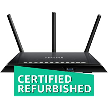 NETGEAR Smart WiFi Router with Dual Band Gigabit for Amazon Echo/Alexa - AC1750, R6400-100NAS (Renewed)