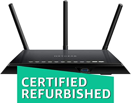 $59 Get NETGEAR Smart WiFi Router with Dual Band Gigabit for Amazon Echo/Alexa - AC1750, R6400-100NAS (Renewed)