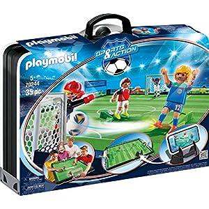 Playmobil Fútbol - Fútbol: Set de fútbol, maletín (4725): Amazon.es: Juguetes y juegos