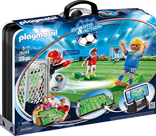 Playmobil- Sports & Action Maletín, Campo de Fútbol, Multicolor (70244)