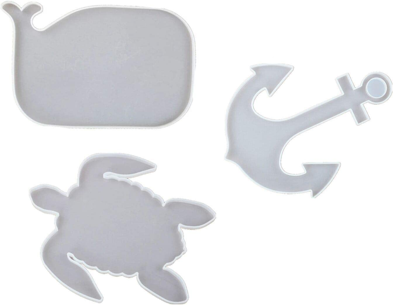 Yalulu Industry No. 1 3 Packs Silicone Resin Tray Anchor G Whale Mold Ranking TOP5 Turtle