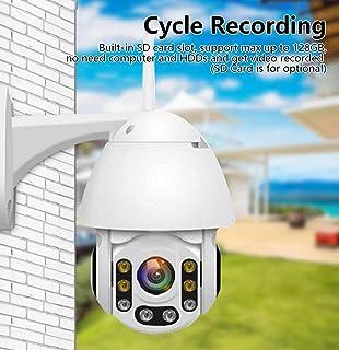 Cámara de seguridad 1080P 2MP con zoom 4x cámara domo IP rápido de 2 canales a todo color cámara de visión nocturna resistente al agua de audio for la vigilancia exterior de color blanco Cámara int