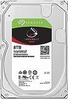 Seagate IronWolf 3.5英寸 数据复旧3年 8TB 内置HDD(CMR) 24小时工作 PC NAS 用 RV传感器 ST8000VN004