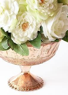 Afloral Blush Copper Glass Compote Bowl Wedding Decoration - 5