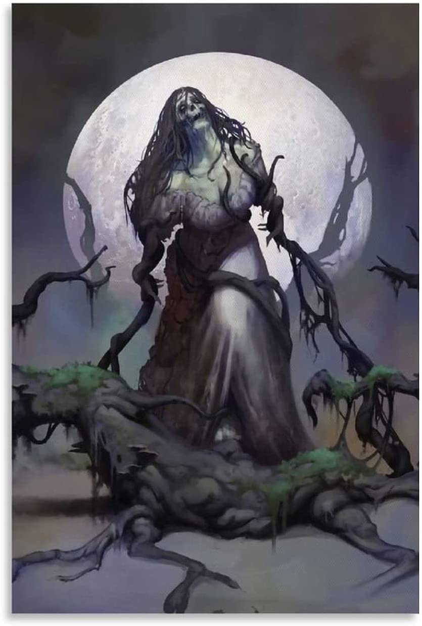 FujiSnow Crying Branch Woman Art Canvas in Max 40% OFF Max 76% OFF Moonlight Poster