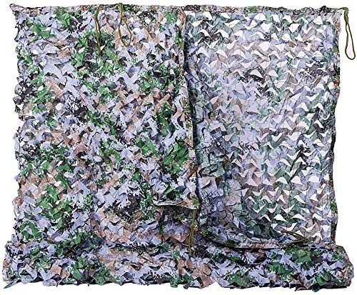LWW Sunshade Net 3x5m Army Camouflage Net Sunscreen Net Garden Terrace Balcony Gazebo Sunblind Decorative Awning Hunting Camping, Multiple Colors, 4x5m (Color : D, Size : 2 * 3m (6 * 10ft))