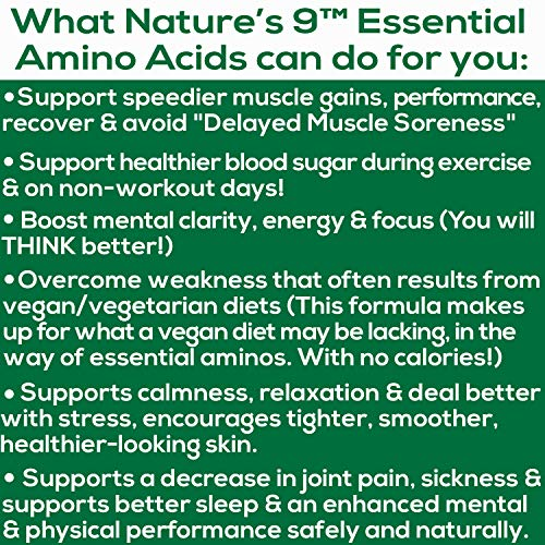 Essential Amino Acids EAA Supplement Complete Amino Acid Complex Pills BCAA + EAAS Tablets: Vegan, A PerfectAmino, Pre Workout, 9 Free Form, Muscle Recovery, Cognitive, Cravings, 210 Pills
