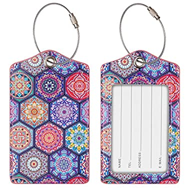 Chelmon Luggage Tags Label Cruise Instrument Bag Case Tags(06 hexagon B)