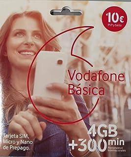 Vodafone Basica 4gb + 300 Minutos