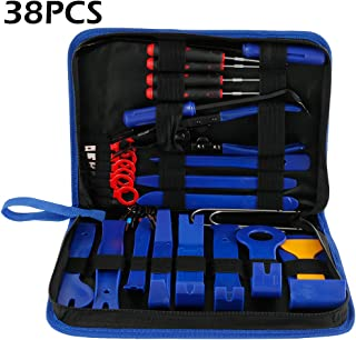 Auto Door Panel Removal Tool Kits Car Removal Tool Sets with Clip Plier Installer Pry Tools Automobile Installer Pry Tools Fastener Remover with Storage Bages babytowns Car Trim Removal Tool