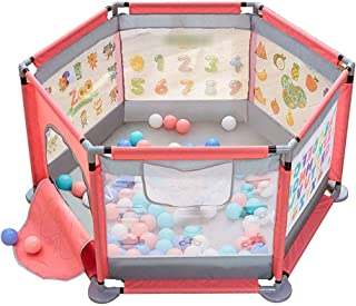 Baby Playpen- Playard for Baby - Safety Play Pen for Infant and Baby, with Sturdy Bases, Skid-Anti Pads, Hight 25.6 in(No ...