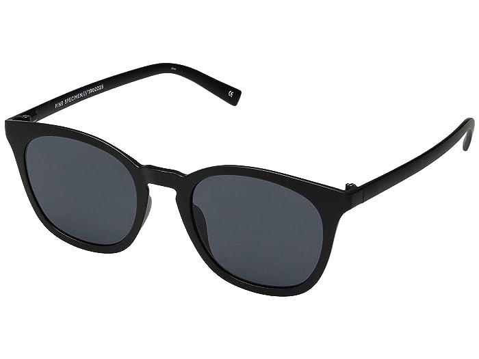 Le Specs Fine Specimen (Matte Black/Smoke Mono) Fashion Sunglasses