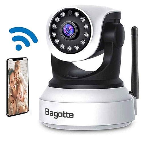 Cámaras IP Wifi, Camaras de Vigilancia Wifi Interior, Bagotte HD P2P Cámara de Seguridad