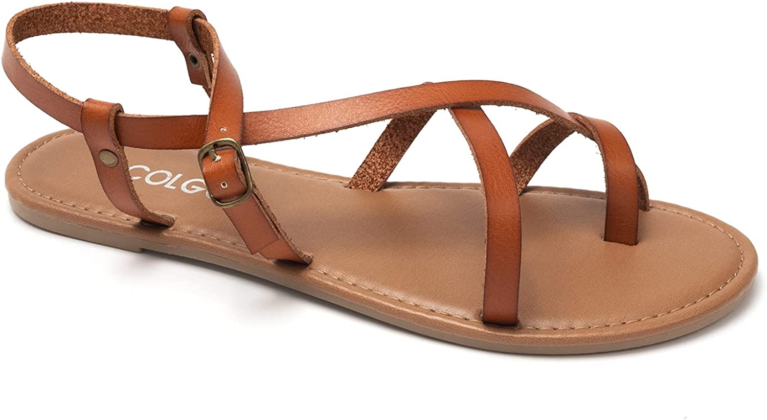 COLGO Women's Summer Limited Special Price 40% OFF Cheap Sale Strappy Flat Adjustable Casual Fis Sandals