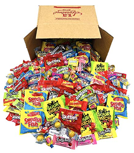 FUN MIX ASSORTED Variety BULK Individually Wrapped Candies, 53 OZ