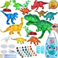 TERTOY Kids Dinosaur Painting Kit, Dinosaurs Toys Crafts and Arts Set Supplies Party for Boys Girls Age 4 5 6 7 Years Old Kid Creativity DIY Gift Paint Your Own Dinosaur Animal Set