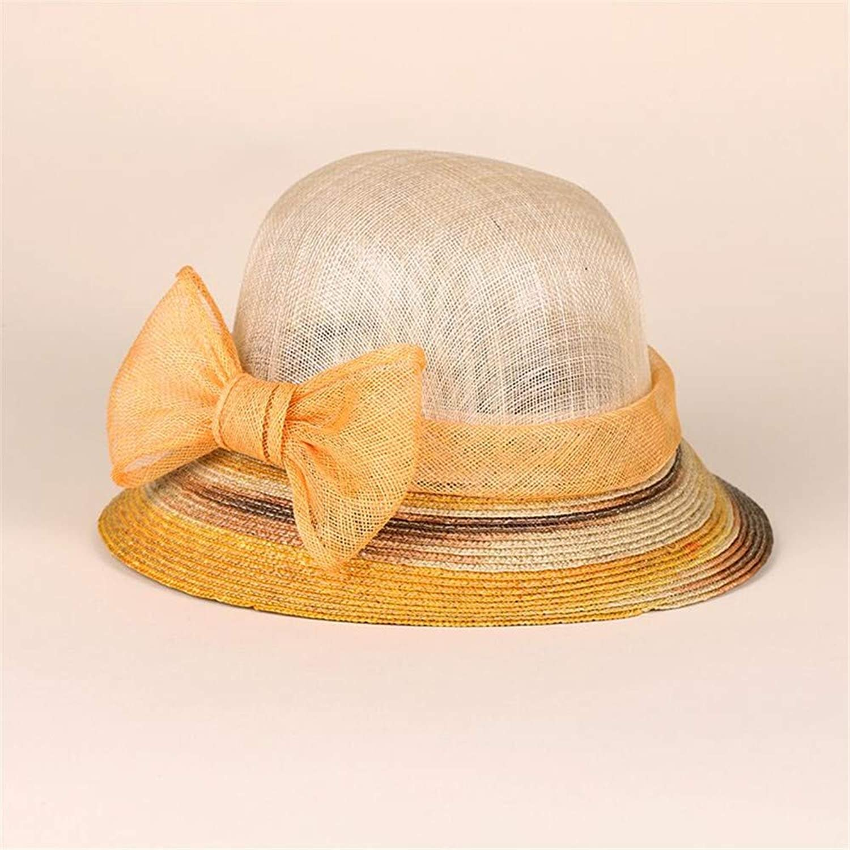 Summer Sun Hat Beach Hat Wedding hat,Hemp hat, Casual Crimping Fashion hat, Beach Shade hat