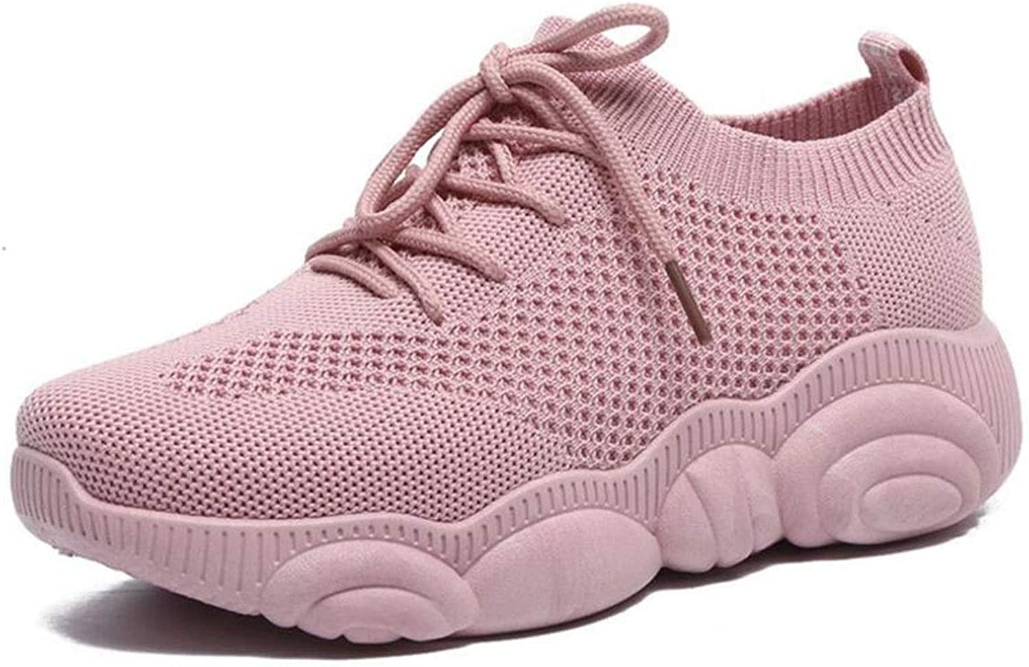 Running shoes for Women Super Lightweight Breathable Slip on Trainers for Casual shoes Women Air Running shoes Shock Absorbing Sneakers (color   Red, Size   8 US)
