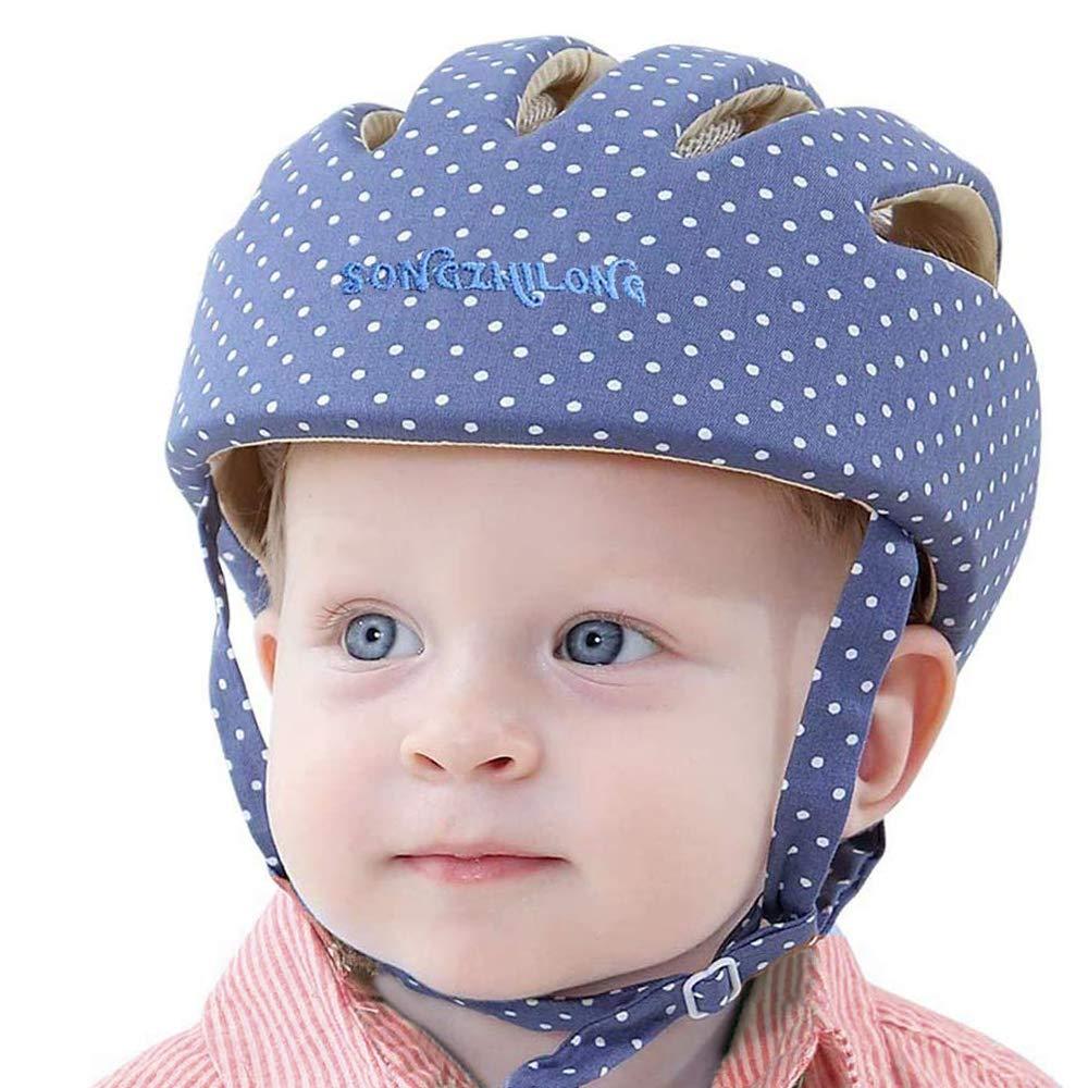 Huifen Baby Children Infant Toddler Adjustable Safety Helmet Headguard Protective Harnesses Cap Blue, Providing Safer Environment Learning to Crawl Walk Playing Baby Infant Blue Hat (Elegant Blue)