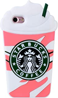 "Pink Coffee Cup Case for iPhone 6/iPhone 6s 4.7"",3D Cartoon Animal Cute Soft Silicone Rubber Character Cover,Funny Design Kawaii Fashion Cool Fun Protective Skin for Kids Child Teens Girls(iPhone6)"