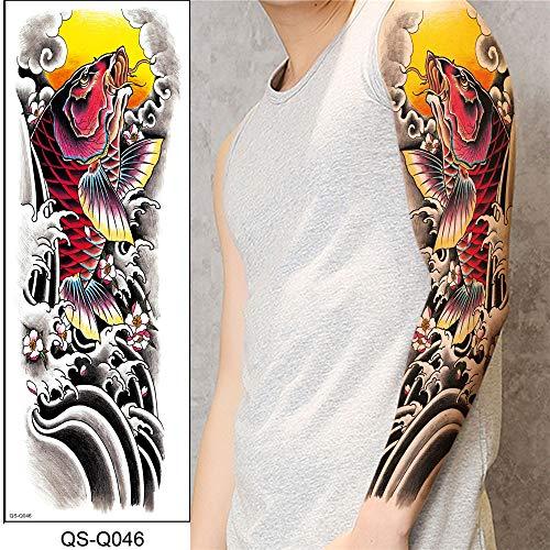 tzxdbh Etiquetas engomadas Completas del Tatuaje del Brazo Etiquetas engomadas Impermeables del Tatuaje del Brazo Entero de la Flor del Brazo para los Hombres y Las Mujeres 2Pcs-10