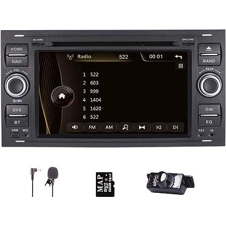 Autoradio Radio Für Ford Fiesta 2005 S Max 2007 2009 Kuga 2008 2011 Navi Mit Dvd Player Unterstützung Gps Navigation Lenkradsteuerung Bluetooth Touchscreen Navigation