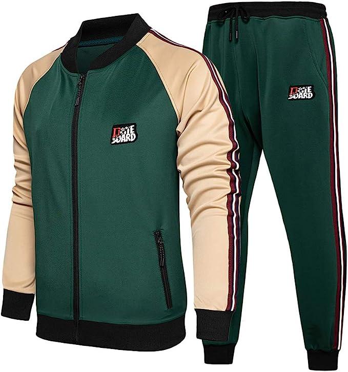 Men's Vintage Gym Clothes   Sweatshirts, Shorts, Tops, Shoes Styles Mens Casual Tracksuit Set Zipper 2 Pieces Jogging Athletic Sweat Suits £30.99 AT vintagedancer.com