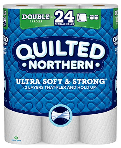 Quilted Northern Ultra Soft & Strong Toilet Paper, 12 Double Rolls, 164 Count of 12 Each.