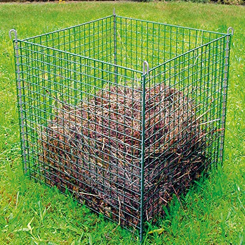 bellissa Gitter-Komposter, verzinkt - Kompostbehälter aus Stahlgitter für Garten- und Küchenabfälle - 78 x 78 x 80 cm